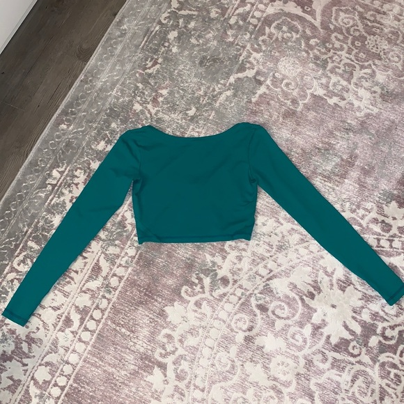Til You Collapse Kelly Green Crop Top